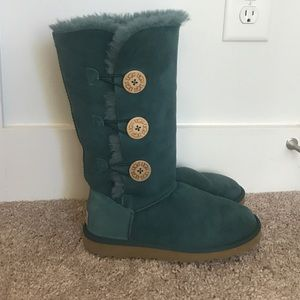Ugg Blue Bailey Button Triplet Boot